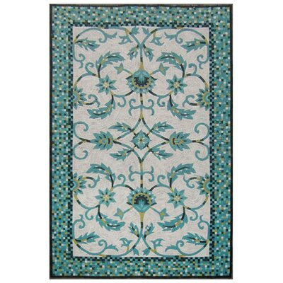Verrett Handmade Blue Indoor/Outdoor Area Rug Rug Size: Rectangle 8 x 10