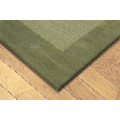 Mercer Hand Tufted Wool Green/Light Brown Area Rug Rug Size: Rectangle 8 x 10