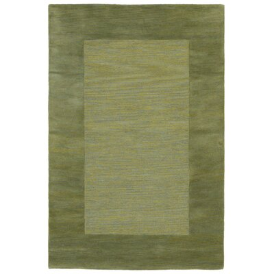 Mercer Hand Tufted Wool Green/Light Brown Area Rug Rug Size: Rectangle 5 x 8