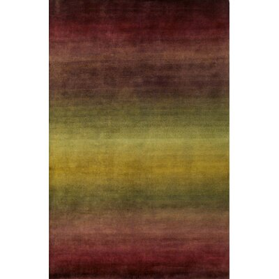 Karela Hand Knotted Wool Burgundy Ombre Area Rug Rug Size: Rectangle 5 x 8