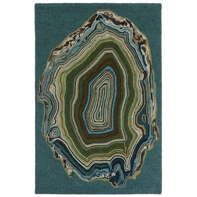 Lalunita Agate Hand-Tufted Blue Indoor/Outdoor Area Rug Rug Size: 9 x 12