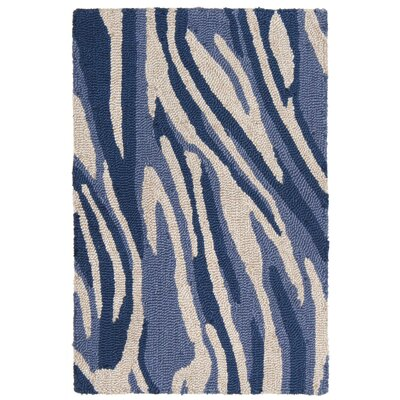 Lalunita Marble Hand-Tufted Navy Indoor/Outdoor Area Rug Rug Size: 2 x 3