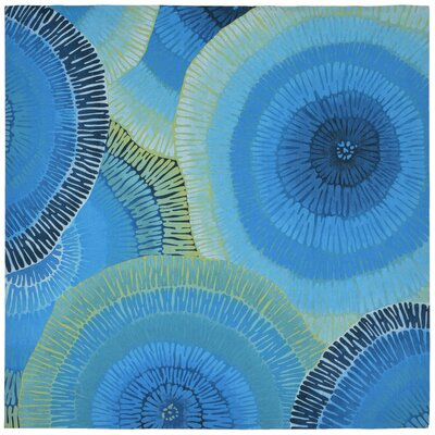 Visions IV Cirque Handmade Blue Indoor/Outdoor Area Rug Rug Size: Square 8