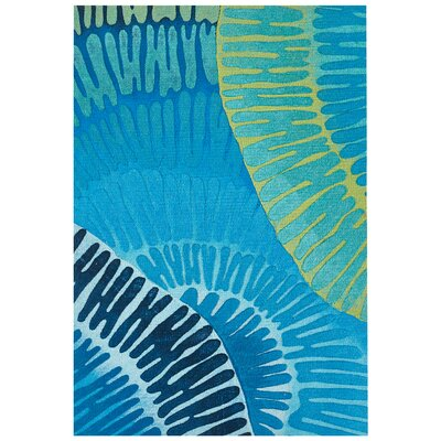 Visions IV Cirque Handmade Blue Indoor/Outdoor Area Rug Rug Size: Rectangle 2 x 3