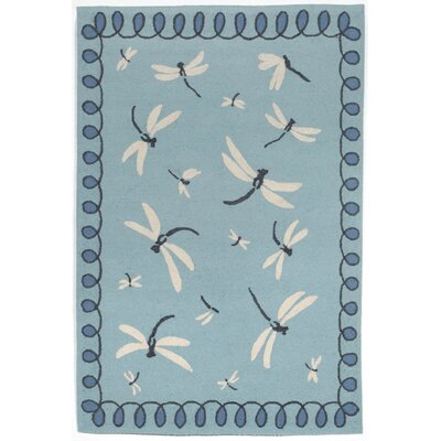 Napa Hand Tufted Blue Indoor/Outdoor Area Rug Rug Size: Rectangle 76 x 96
