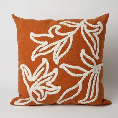 Jema Indoor/Outdoor Throw Pillow Size: 20 x 20, Color: Orange