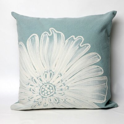 Kaitlyn Antique Medallion Indoor/Outdoor Throw Pillow Size: 20 x 20, Color: Aqua
