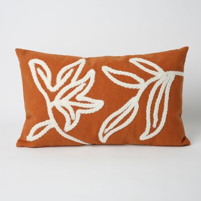 Moana Outdoor Lumbar Pillow Color: Orange