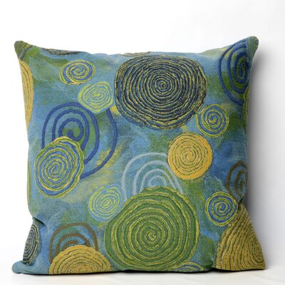 Nordmeyer Graffiti Swirl Outdoor Throw Pillow Size: 20 x 20, Color: Cool