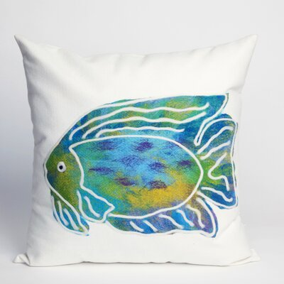 Rupert Batik Fish Indoor/Outdoor Throw Pillow Size: 20