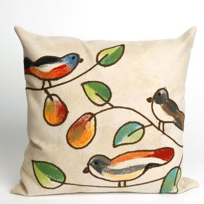Nunnally Song Birds Indoor/Outdoor Throw Pillow Size: 20 x 20, Color: Cream