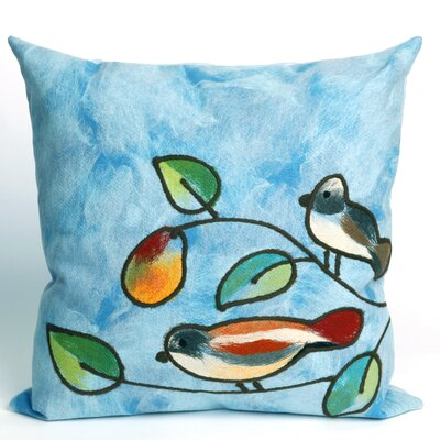 Nunnally Song Birds Indoor/Outdoor Throw Pillow Size: 20 x 20, Color: Blue