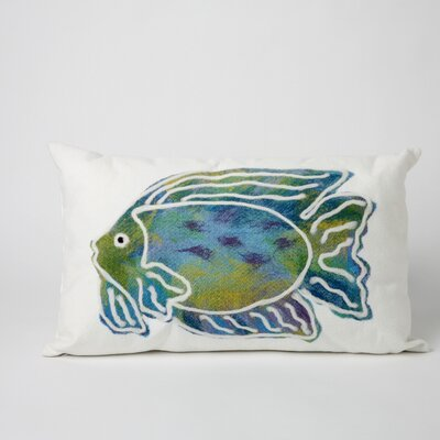 Rupert Batik Fish Indoor/Outdoor Lumbar Pillow