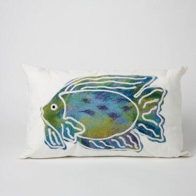 Rupert Batik Fish Indoor/Outdoor Lumbar Pillow
