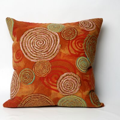 Nordmeyer Graffiti Swirl Outdoor Throw Pillow Size: 20 x 20, Color: Warm