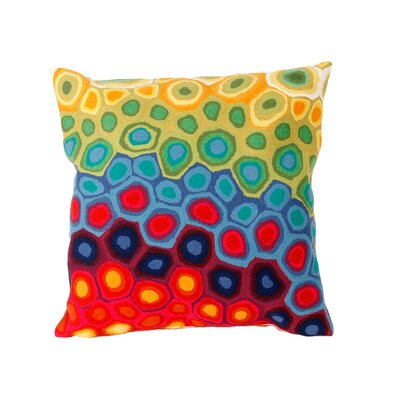 Phina Swirl Outdoor Throw Pillow Size: 20