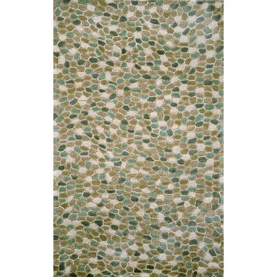 Nelda Pebbles Blue Outdoor Area Rug Rug Size: 5 x 76