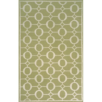 Sherborn Arabesque Sage Outdoor Area Rug Rug Size: 36 x 56
