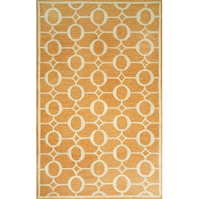 Sherborn Arabesque Orange Outdoor Area Rug Rug Size: 36 x 56
