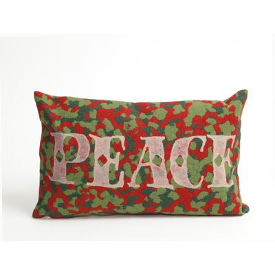 Visions II Peace Indoor/Outdoor Throw Pillow Size: 12 x 20