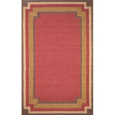 Medici Red Multi Border Indoor/Outdoor Area Rug Rug Size: 5 x 76
