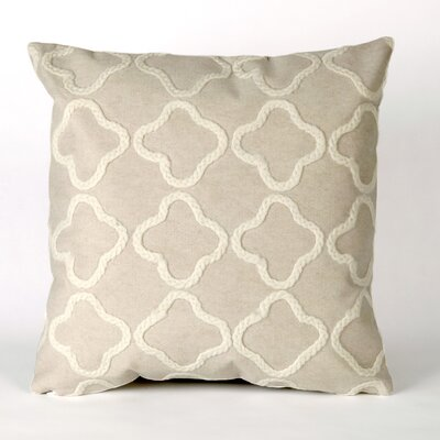 Hornellsville Crochet Tile Outdoor Throw Pillow Size: 12 x 20, Color: White