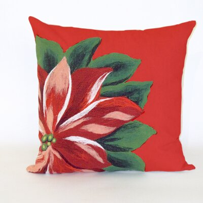 Frazee Teter Poinsettia Indoor/Outdoor Throw Pillow Size: 12 x 20