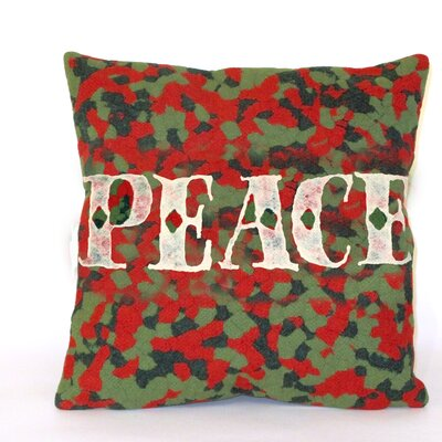 Visions II Peace Indoor/Outdoor Throw Pillow Size: 20 x 20
