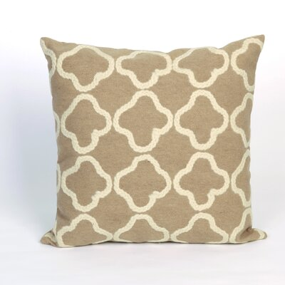 Hornellsville Crochet Tile Outdoor Throw Pillow Size: 20 x 20, Color: Linen