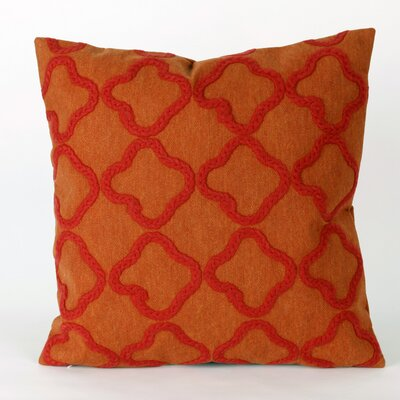 Hornellsville Crochet Tile Outdoor Throw Pillow Size: 12 x 20, Color: Orange