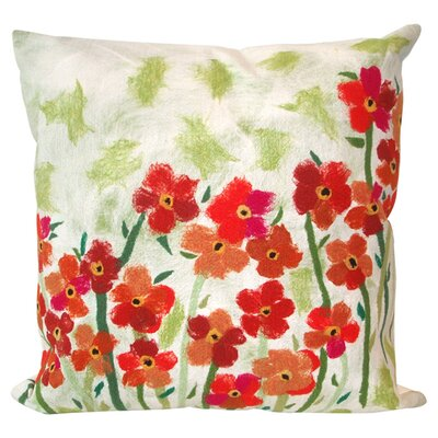 Teran Poppies Indoor/Outdoor Throw Pillow Size: 20