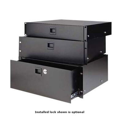 SDR Sliding Drawer Height: 2 rack spaces, Style: Brushed Anodized Front
