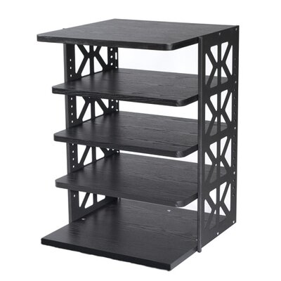 Wooden Pull-Out Rotating Shelving Unit Size: 36 H