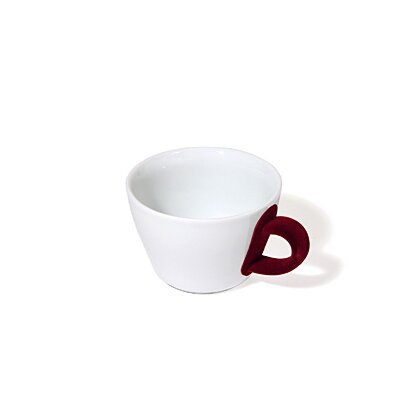 Five Senses Touch! Red 8.5 Oz Cappuccino Cup