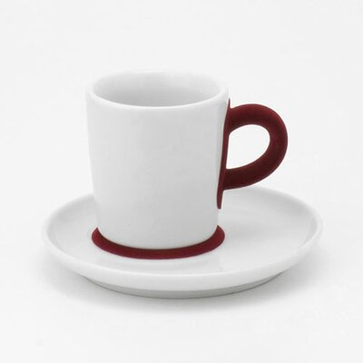 Kahla Five Senses Touch! Red 3 Oz Espresso Cup With Saucer