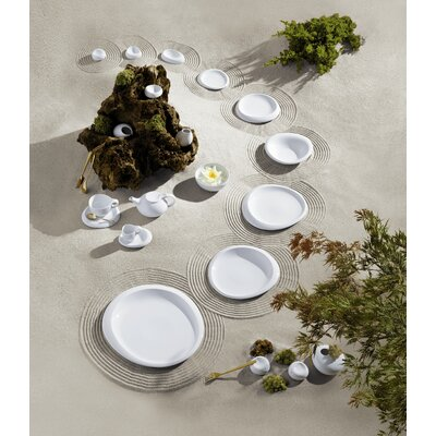 Tao Dinnerware Collection-6.3 Flat Plate In White