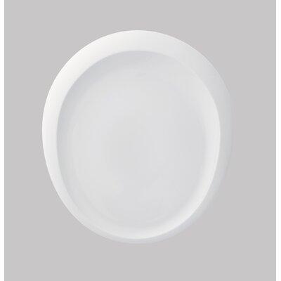 Tao 15.8 Oval Platter In White