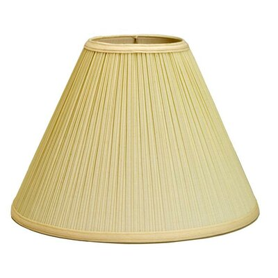 Mushroom Pleat 6 Linen Empire Lamp Shade Color: Forest Green