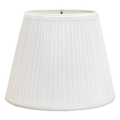 Mushroom Pleat 12 Linen Bell Lamp Shade Color: White