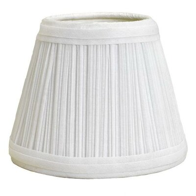 Mushroom Pleat 11 Linen Empire Lamp Shade Color: White