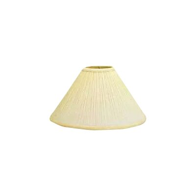 Mushroom Pleat 17 Linen Empire Lamp Shade Color: Natural