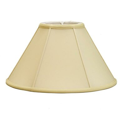 Mushroom Pleat 18 Silk/Shantung Empire Lamp Shade Color: Egg