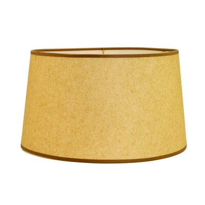 Hardback 16 Linen Drum Lamp Shade Color: Natural / Brown Soutache