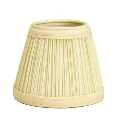 Mushroom Pleat 5 Linen Empire Candelabra Shade Color: Black