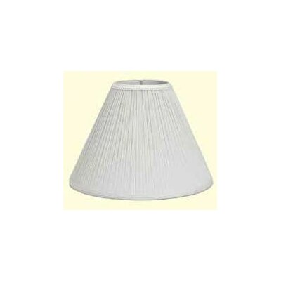 Mushroom Pleat 6 Linen Empire Lamp Shade Color: White