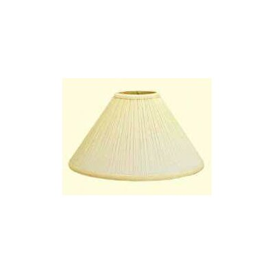 Mushroom Pleat 13 Linen Empire Lamp Shade Color: Black