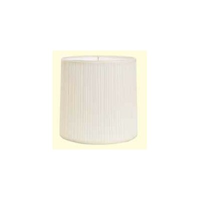 Mushroom Pleat 10 Linen Drum Lamp Shade Color: White