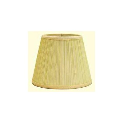 Mushroom Pleat 12 Linen Empire Lamp Shade Color: Black