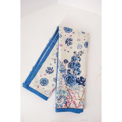 Fleur Sauvage Hand Towel Color: Blue