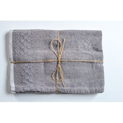 Hotel Dobby Hand Towel Color: Gray